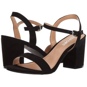 Report Women's Penelope Black Heeled Sandal 8 NEW